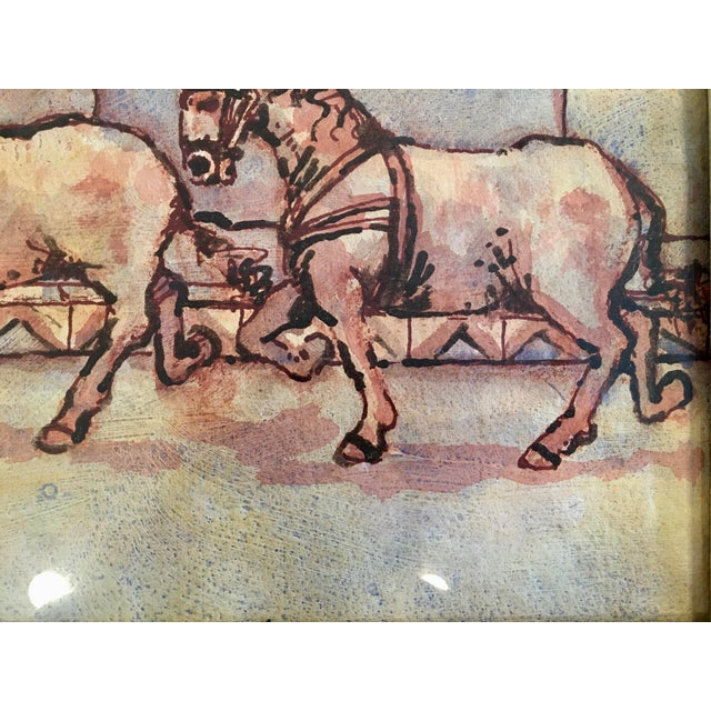 """Circus Series """"Bare Back Trick Riding"""" Painting For Sale - Image 4 of 11"""