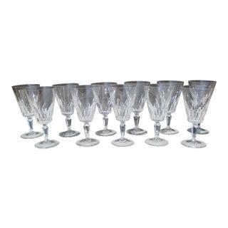 Baccarat Carcasonne Pattern Claret Wine Glasses Set of 11 For Sale