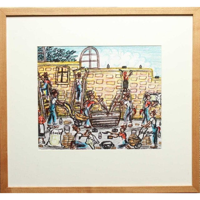 Vintage Alvin Batiste Outsider Art Southern Pencil & Ink Drawing For Sale In New York - Image 6 of 6