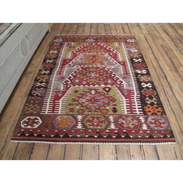 Traditional Sivrihisar Kilim For Sale - Image 3 of 7