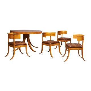 Dining Table & Chairs by Kaj Gottlob For Sale