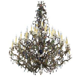 Large Palatial French Chandelier For Sale