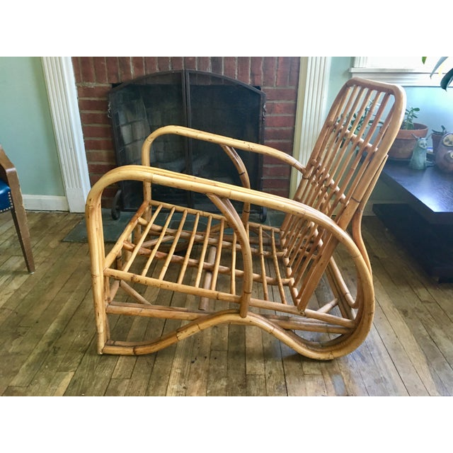Mid-Century Modern Bamboo Club Chair - Image 4 of 10