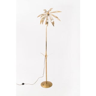 1970's Brass Palm Tree Floor Lamp Preview