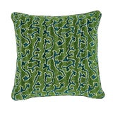 Image of Contemporary Schumacher X Timothy Corrigan Corail Velvet Pillow in Emerald For Sale