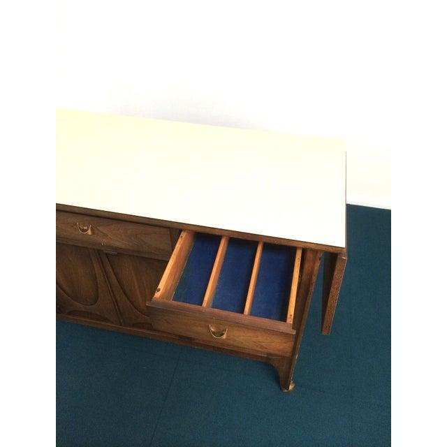 Wood Broyhill Brasilia Danish Modern Walnut Bar Cart For Sale - Image 7 of 7