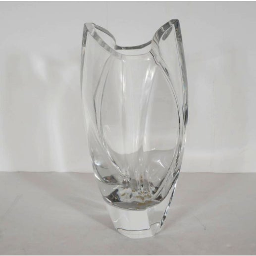 Robert Rigot For Baccarat Giverny Crystal Vase Chairish