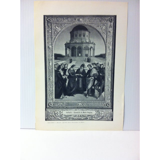 """This is a Vintage Print on Paper of Milano, Italy that is titled """"Quadro Nella Pinacoteca Brera"""". The Print was Published..."""