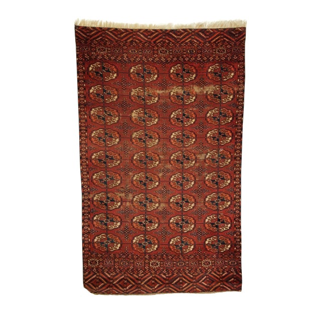 Vintage Tekke Red Rug For Sale - Image 4 of 4