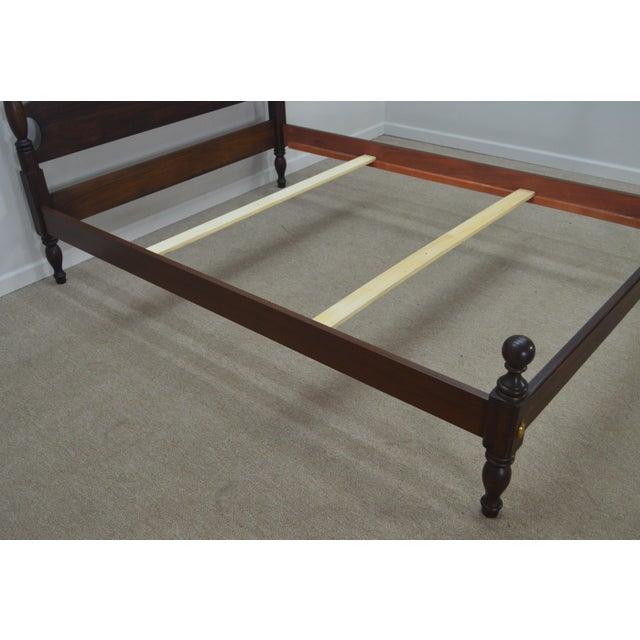 Wood Henkel Harris Solid Mahogany Full Size Bedframe For Sale - Image 7 of 13