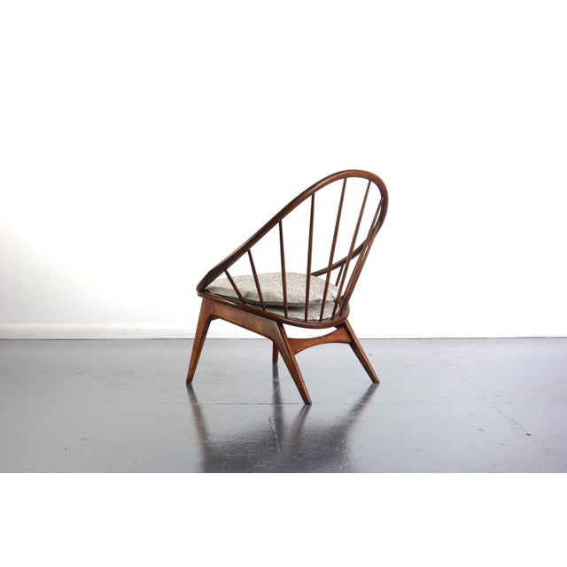 1950s Ib Kofod-Larsen for Selig Hoop Chairs - a Pair of Two (2) For Sale - Image 5 of 7