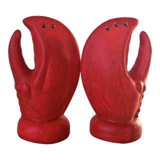Vintage Lobster Claw Salt & Pepper - a Pair For Sale