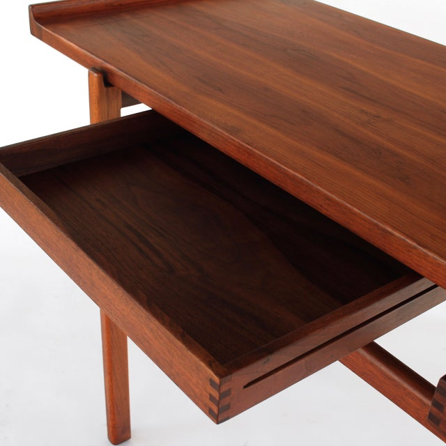 1960s Danish Modern Jens Risom Console Table With 2 Drawers For Sale - Image 10 of 12