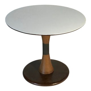 1960s Mid Century Modern Round Tulip Base Accent Table For Sale