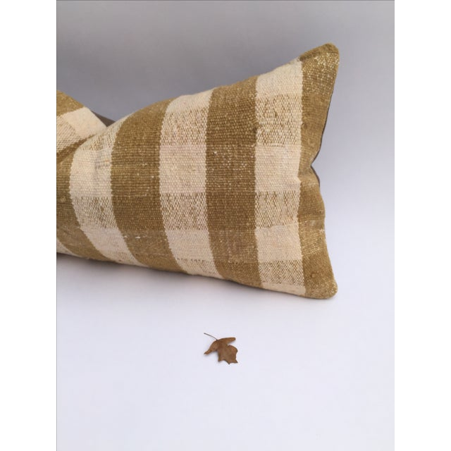 Mustard Buffalo Check Plaid Kilim Pillow Cover - Image 4 of 6