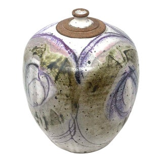 Studio Pottery Weed Pot by Viramontes For Sale