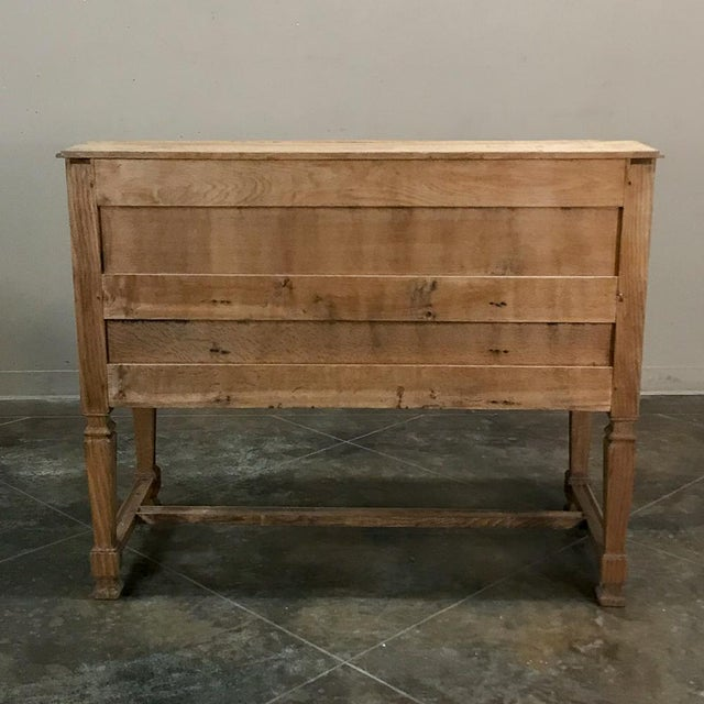 19th Century French Louis XIV Stripped Oak Secretary For Sale - Image 10 of 11