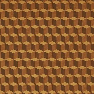 Sample - Schumacher Legno Wallpaper in Maple For Sale