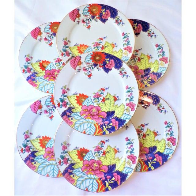 Vintage Tobacco Leaf Porcelain Plates - Set of Seven or Eight For Sale - Image 10 of 10