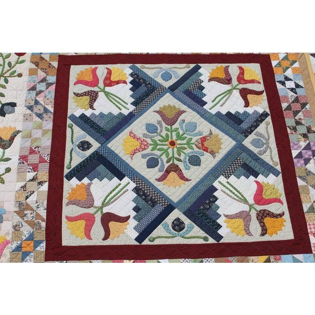 20th Century Amazing Center Star Medallion Quilt - Image 2 of 7