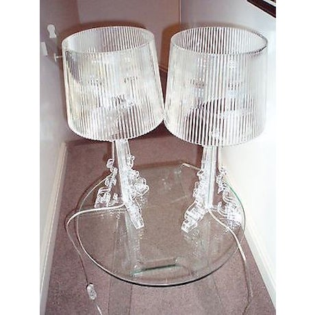 Kartell Bourgie Crystal Lamps - A Pair - Image 7 of 7