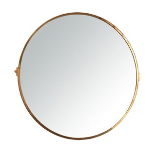 "Adesso Imports Large Brass ""Lucio"" Mirror For Sale"