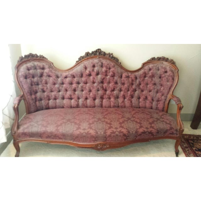 1900 - 1909 Antique Victorian Sofa For Sale - Image 5 of 5