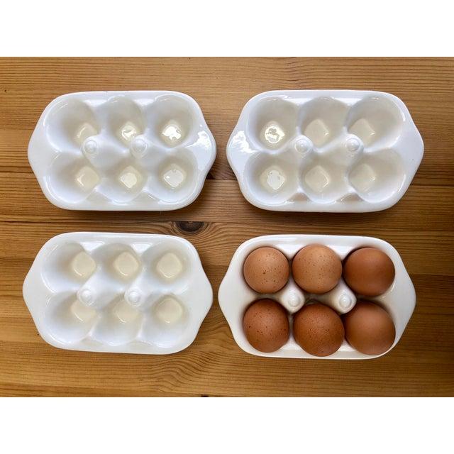 White Italian Ceramic Egg Cartons - Set of 4 For Sale - Image 8 of 12