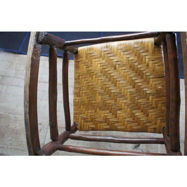 Rustic Hickory Furniture Company No. 21 Rocker Adirondak Lodge Rocking Chair For Sale - Image 11 of 12