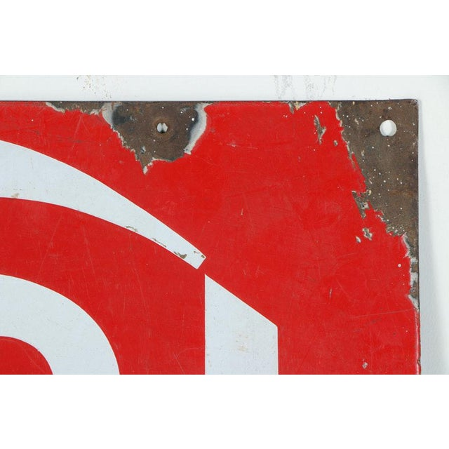 Industrial Metal Advertisement Signs - a Pair For Sale - Image 3 of 9