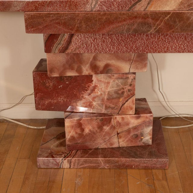 1960s Stacked Marble Console Table For Sale - Image 4 of 5