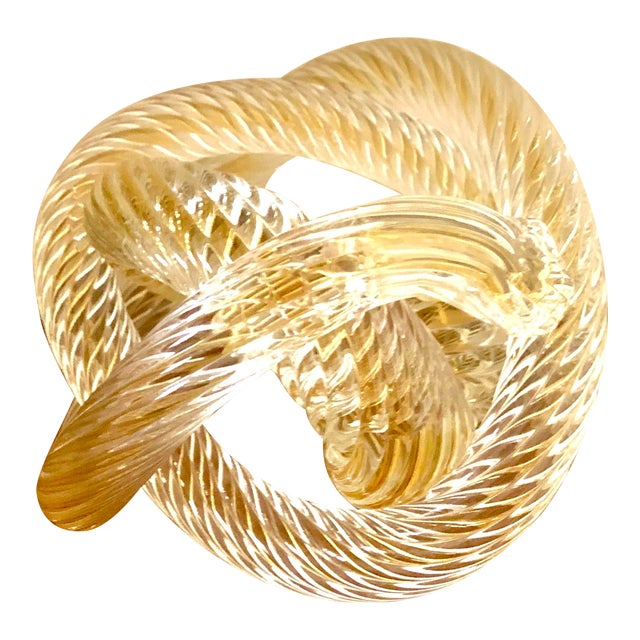 Murono Glass Zanetti Twisted Love Knot For Sale