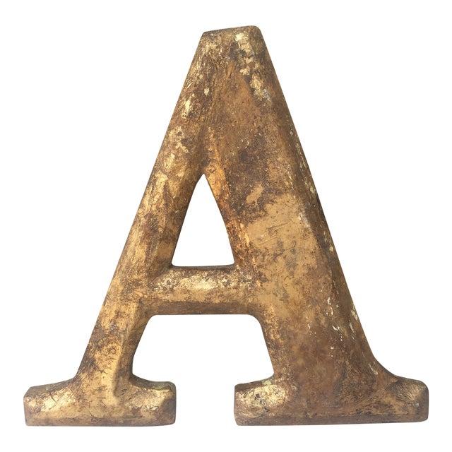 "Gilt Wood Letter ""A"" - Image 1 of 5"