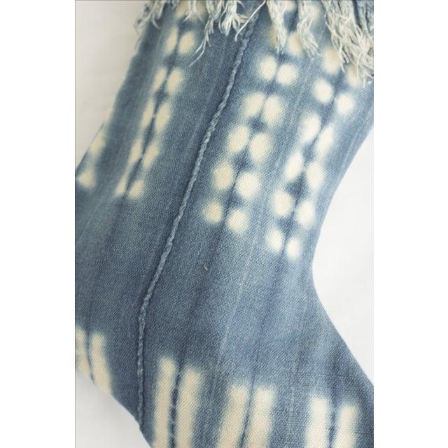 Mossy Indigo Mudcloth Christmas Stocking - Image 5 of 6