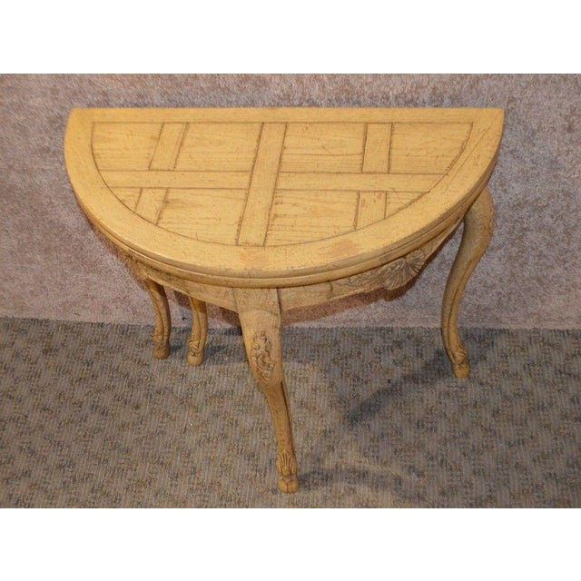 Country Baker Country French Style Flip Top Card Table For Sale - Image 3 of 13