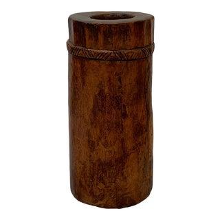Vintage Naga Tribal Tree Trunk Vessel For Sale