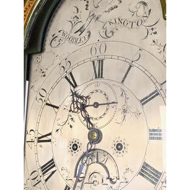 George III Chinoiserie Decorated Long Case Clock For Sale - Image 11 of 13