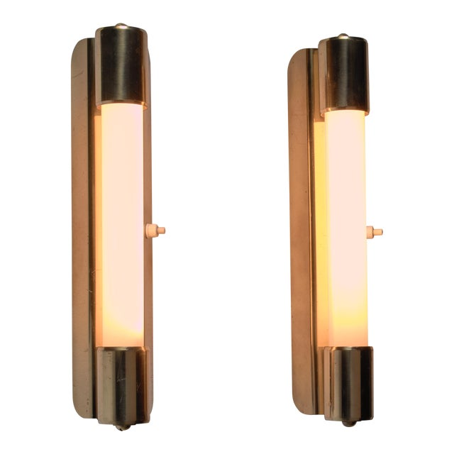 Mauri Almari pair of wall lamps for Idman, Finland, 1950s For Sale