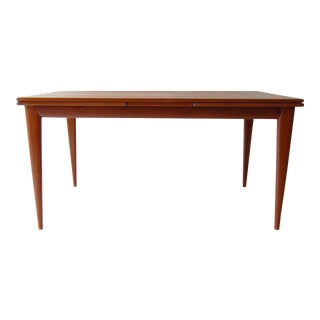 1960s Vintage J L Moller Danish Modern Teak Dining Table For Sale