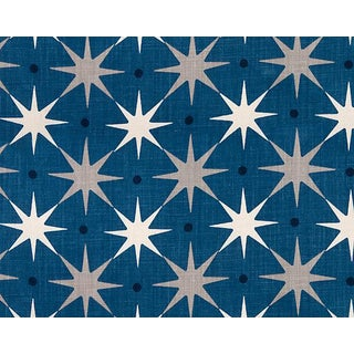 Hinson for the House of Scalamandre Star Power Fabric in Navy For Sale