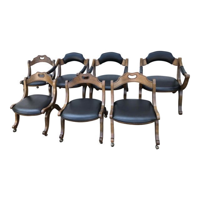 Drexel Heritage HISPANIA, circa 1970's, Dining Room Furniture Set. Seven chairs, two table leaves, custom table pads....