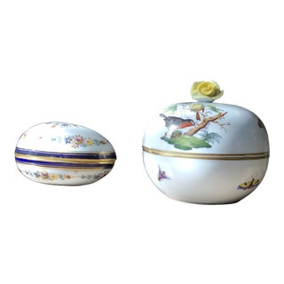 Meissen &Herrend Trinketier Set - a Pair