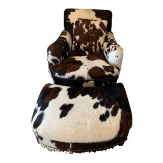 Modern George Smith Pony Chair With Ottoman For Sale