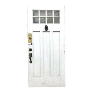 1920s Paneled Bungalow Exterior Door For Sale