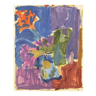 Victor DI Gesu, 'Spring Flowers', California Post-Impressionist Still Life, Louvre, Lacma, Circa 1955 For Sale