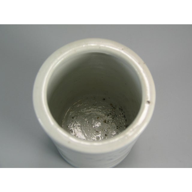 White 19th Century Chinese Small Blue and White Brush Pot/Bitong For Sale - Image 8 of 11