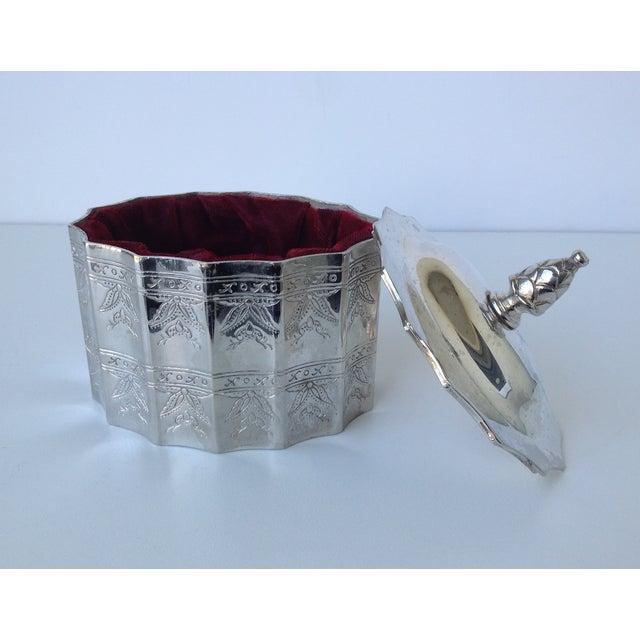 Silverplate Moorish Lidded Keepsake Box - Image 7 of 9