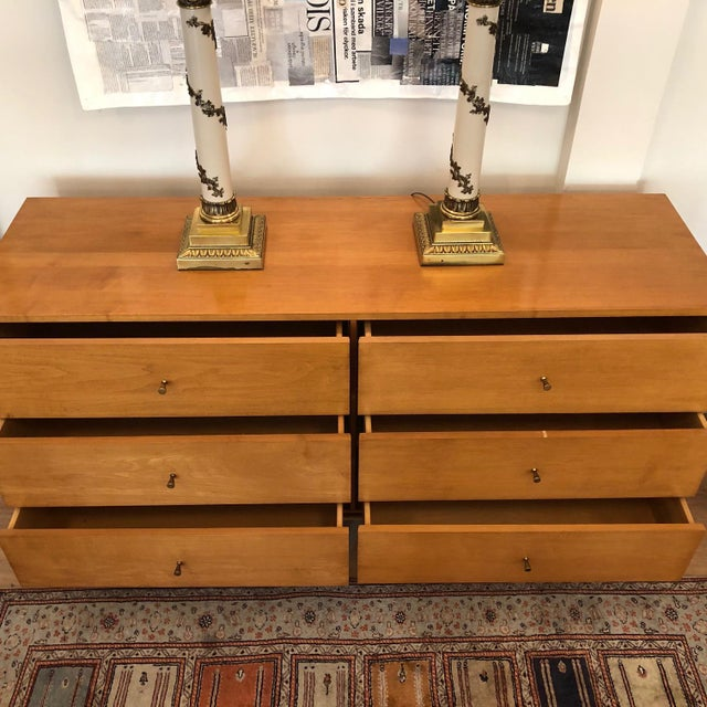 Metal 1960s Mid-Century Modern Paul McCobb Solid Maple Lowboy Dresser For Sale - Image 7 of 9