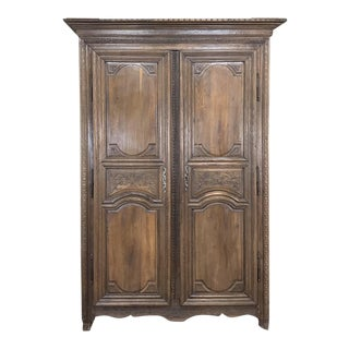 19th Century Country French Provincial Armoire For Sale