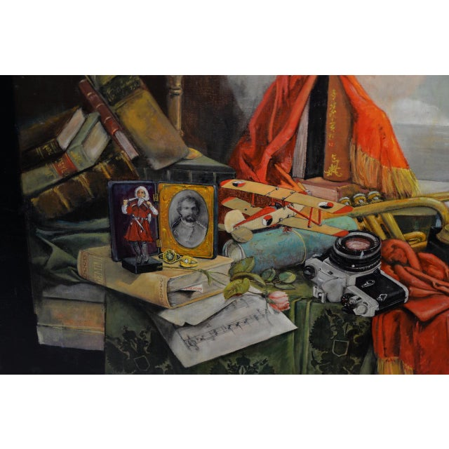 Canvas Late 20th Century Surreal Still Life Landscape by Ayers C.1995 For Sale - Image 7 of 13